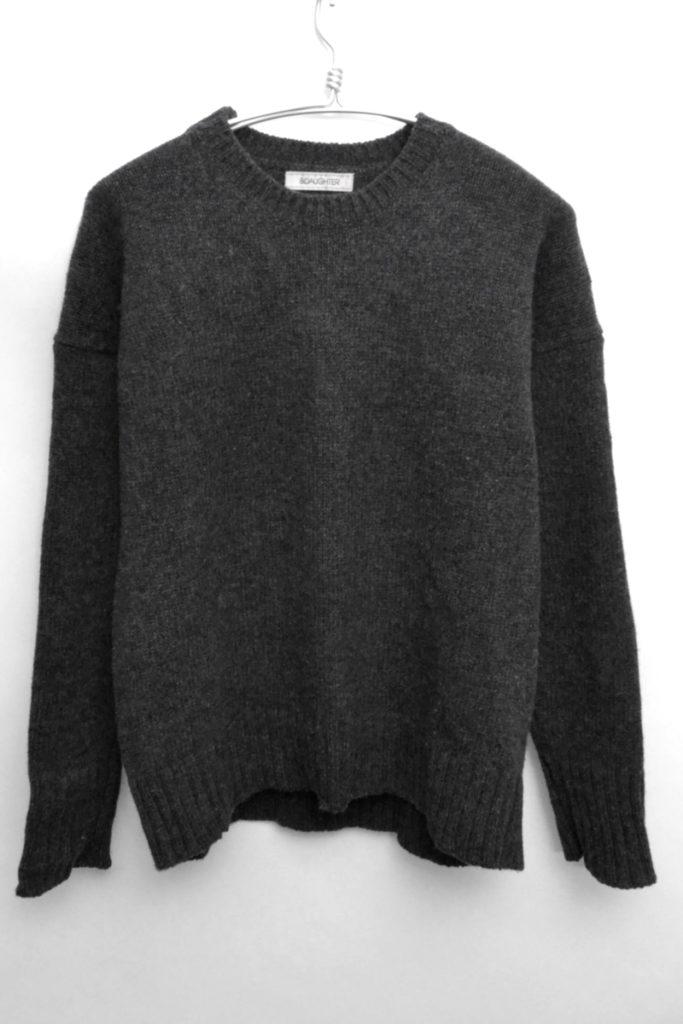 アイルランド製 ウールクルーネックニット セーター
