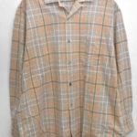 80s ヴィンテージ ビッグシルエット オープンカラー チェックシャツ