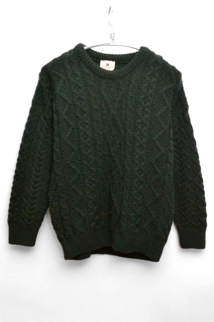 アイルランド製 ウールケーブルニット セーター