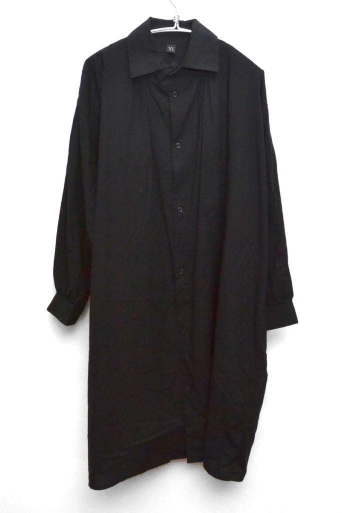 ギャザーブラウス ロングシャツ ワンピース