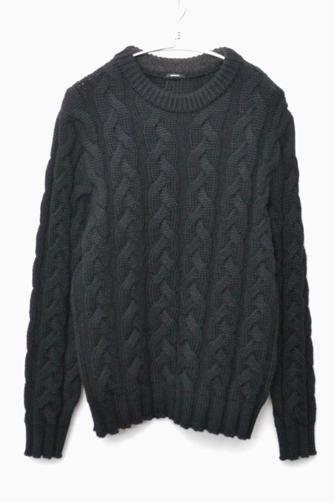 BIG CABLE KNIT ビッグケーブルニット クルーネックセーター