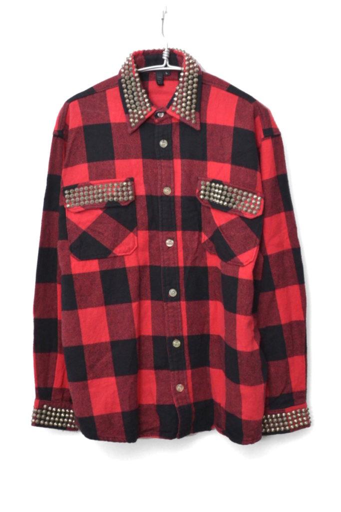 JACK THE LAD SHIRT スタッズ ブロックチェック ネルシャツ