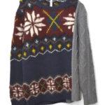 Frants knit フランツニット 切替ニット セーター