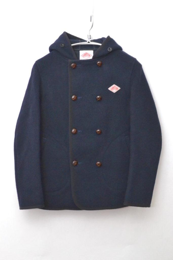 ウールモッサ ダブルボタンフーデッドジャケット
