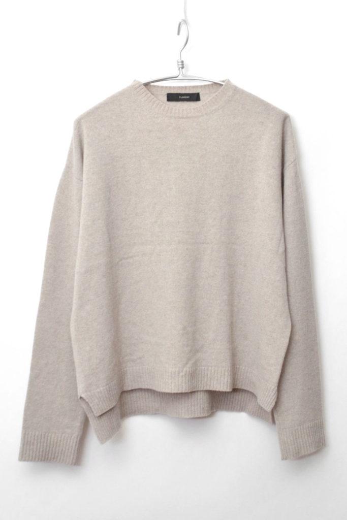 セーブル混紡ウール クルーネック ワイドニットセーターの買取実績画像