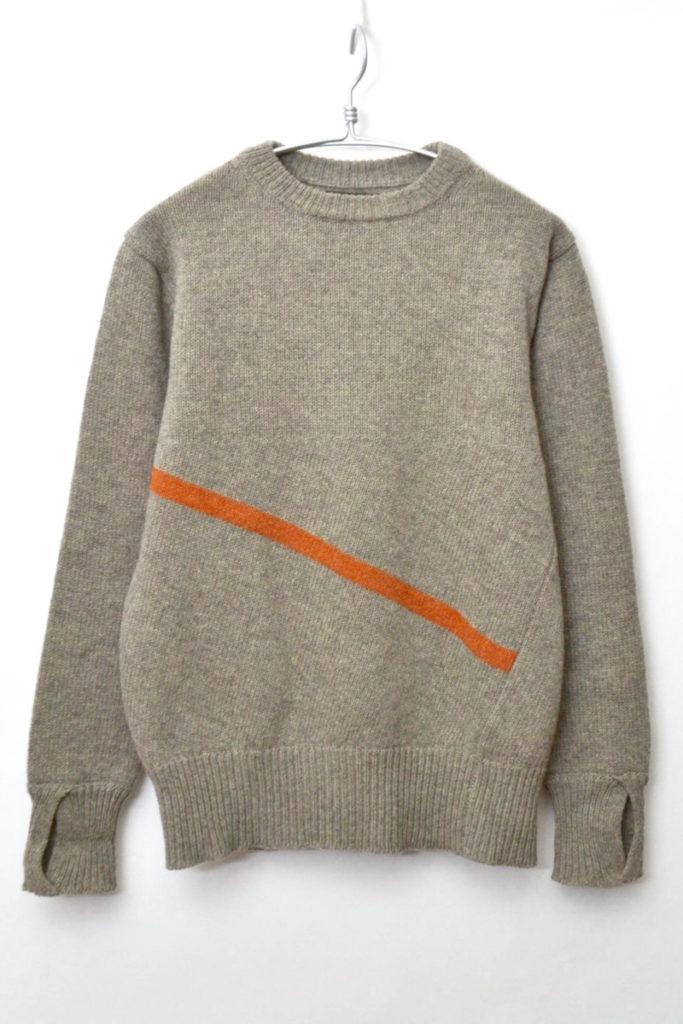 TWISTED SWEATER CRAZY クルーネックニットセーター