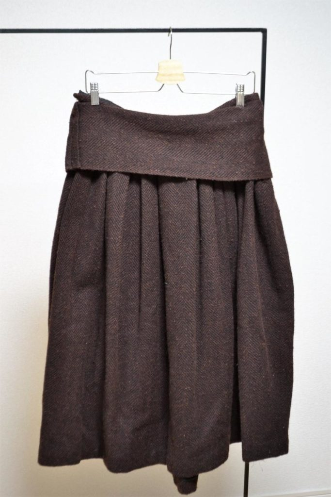 2005AW/ツイード素材 ボリュームスカート