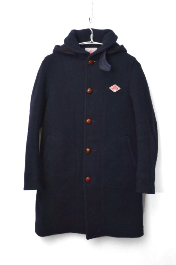 ウールモッサフーデッドコート