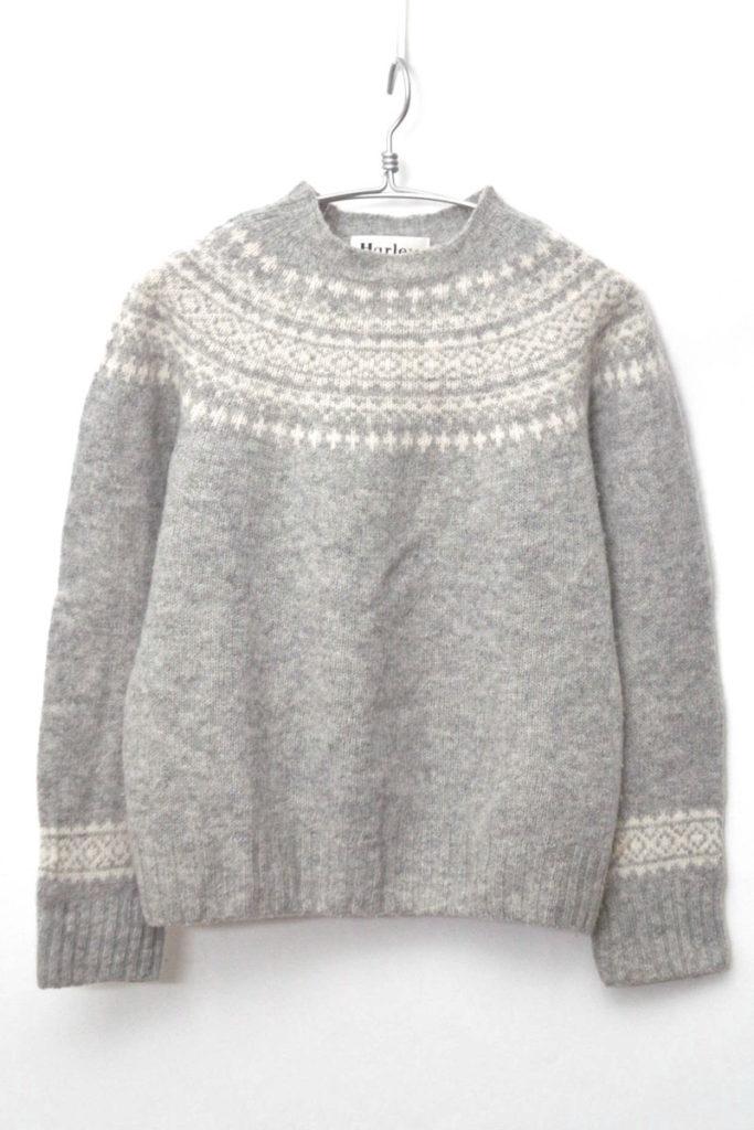 フェアアイル柄 ウール クルーネックニット セーターの買取実績画像