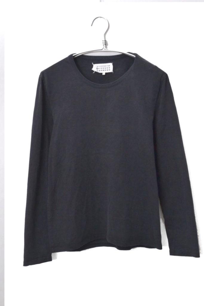 エルボーたたき縫い加工 カットソー 長袖Tシャツ