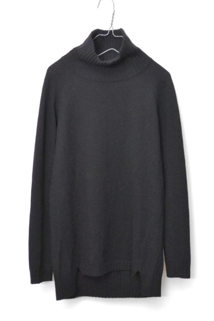 2015AW/ アンゴラ混紡 ドロップテール タートルネックニットセーター