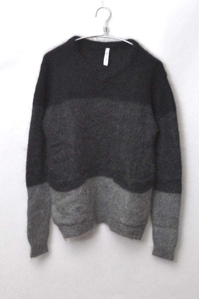 Lucias knit ルーシャスニット モヘア混紡 3トーンボーダーニット セーター