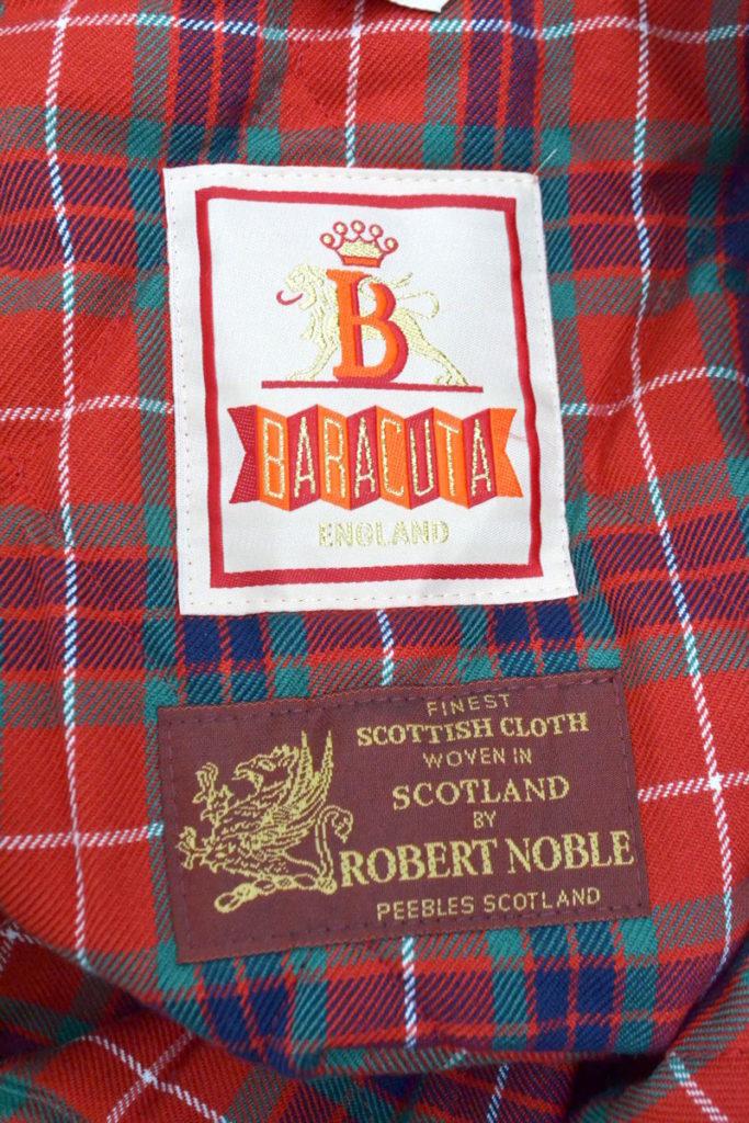 ROBERT NOBLE カシミヤ混紡グレンチェック生地 G9 中綿 ハリントンジャケットの買取実績画像
