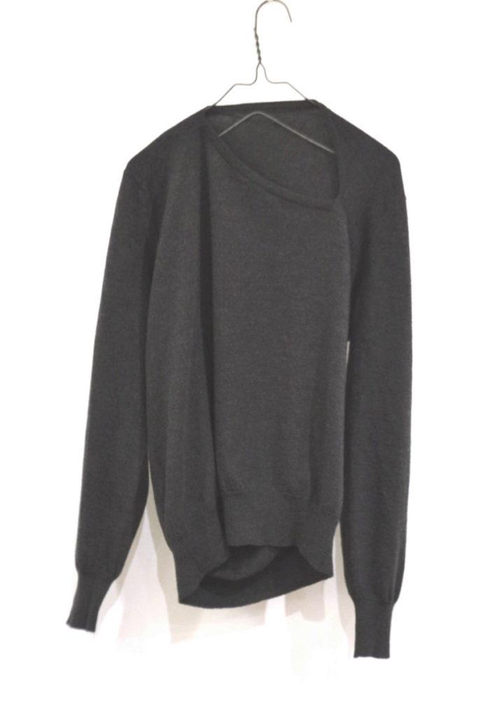 ウール変形ニット プルオーバー セーター