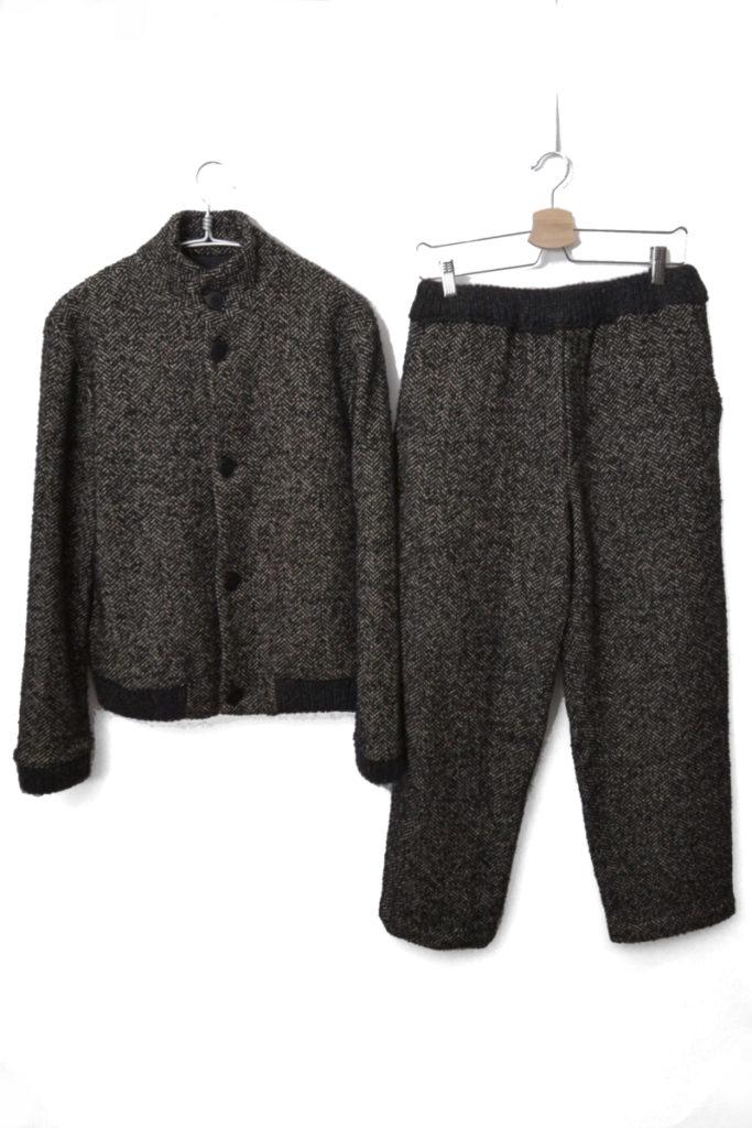 HERINGBONE WOOL BLOUSON ウールヘリンボーンツイード セットアップジャケット パンツ