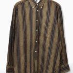 19th BD Shirt フランネルストライプ ボタンダウンシャツ