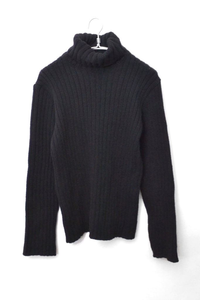 ヘビーリブ タートルネックニット セーター