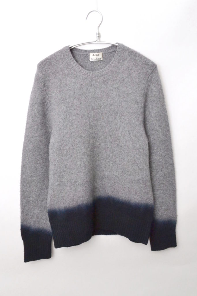 Chet Dip-Dye Knitted-Wool Sweater クルーネックニットセーター