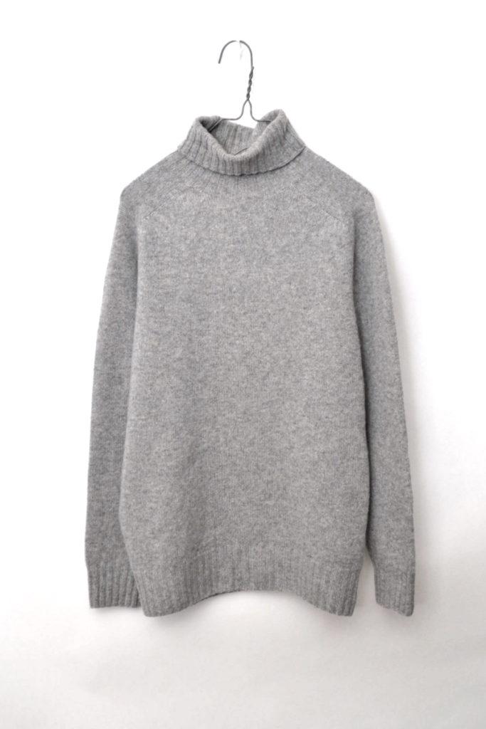 ジーロンラム タートルネックニット セーター