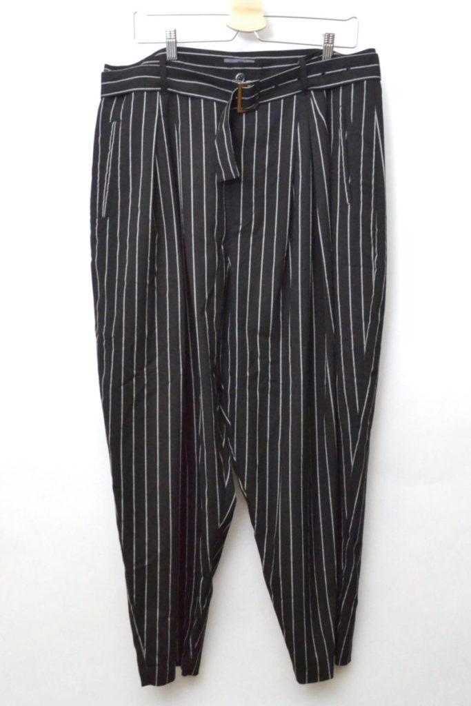 2017SS/Pleats slacks ベルト付き プリーツワイドスラックスパンツ