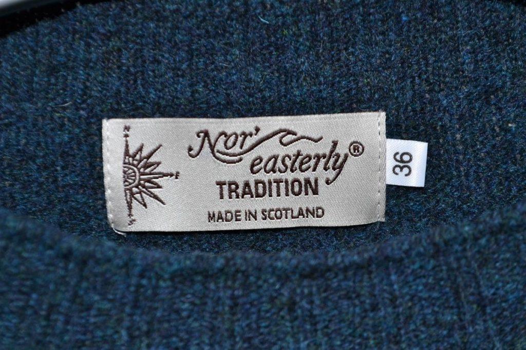 REW NECK SWEATER シェットランドニット クルーネックセーターの買取実績画像