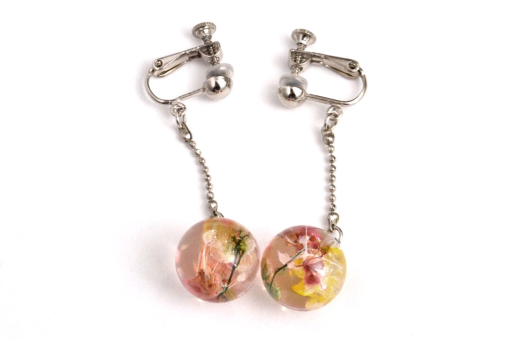 2015SS/ ACRYLIC FLOWER EARRINGS フラワーイヤリング