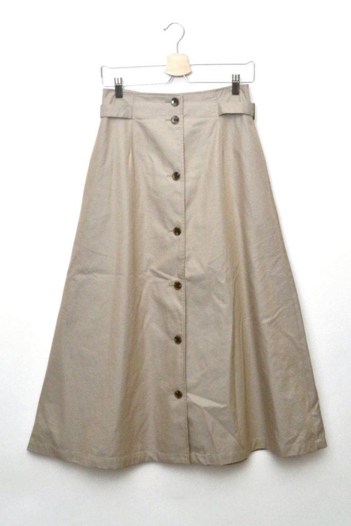 2018AW/サイドバックルフロントボタンスカート