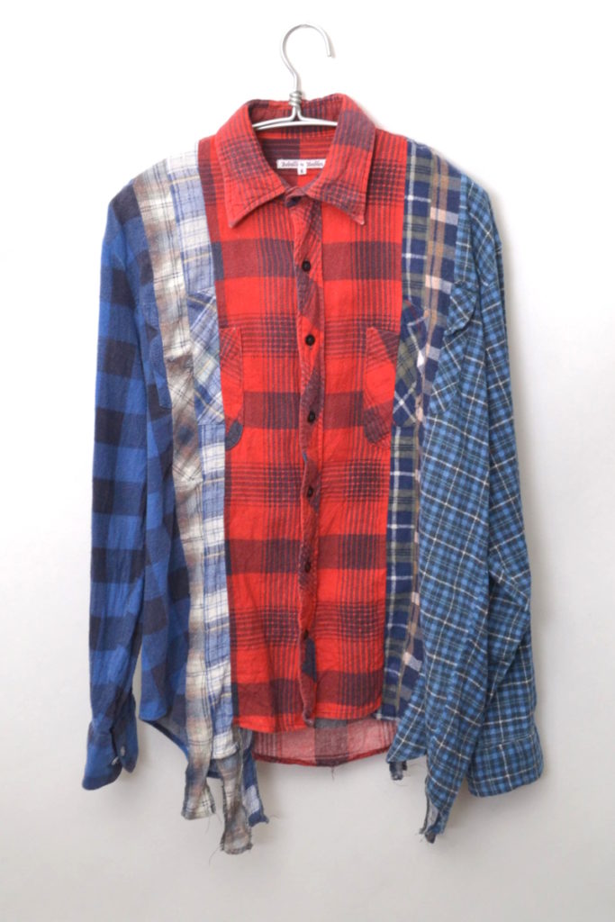 7Cut Flannel Shirt 解体再構築 ネルシャツ