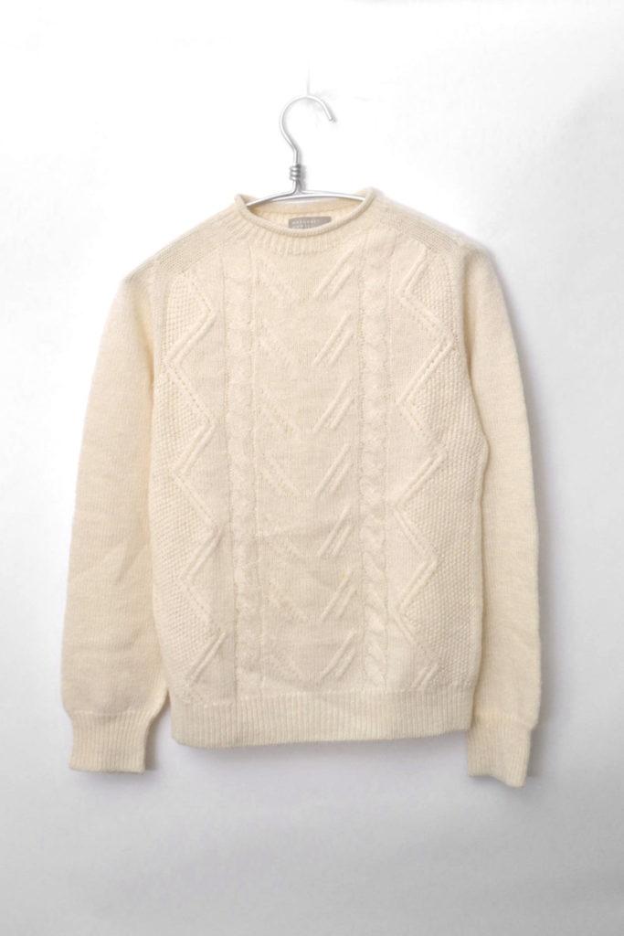2015AW/編地切替 ケーブルニット セーター