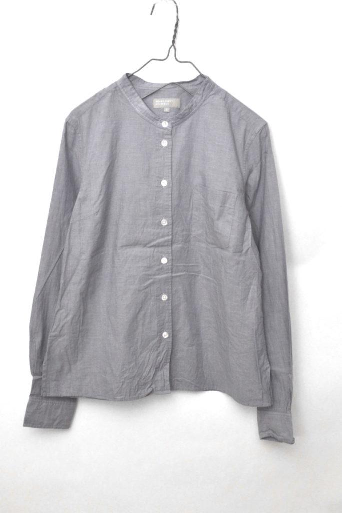 2014AW/コットンポプリン バンドカラーシャツ
