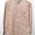 Tab Collar Shirt Fower Printed コットン 総柄タブカラーシャツ