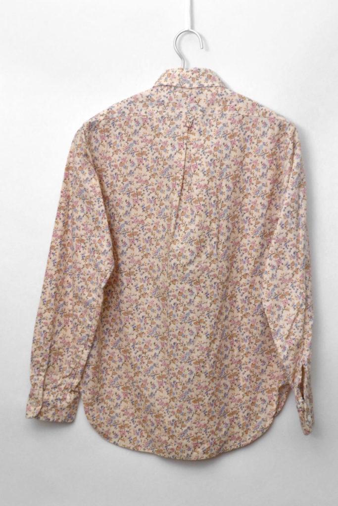 Tab Collar Shirt Fower Printed コットン 総柄タブカラーシャツの買取実績画像