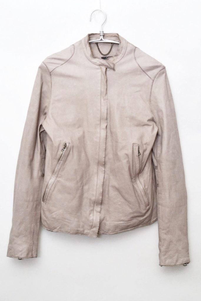 タンニングレザー シングルライダースジャケットの買取実績画像