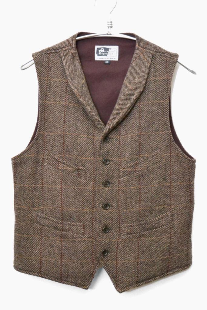 2009年秋冬モデル/Shawl Collar Cinch Vest – Tweed ショールカラー ツイード シンチベスト