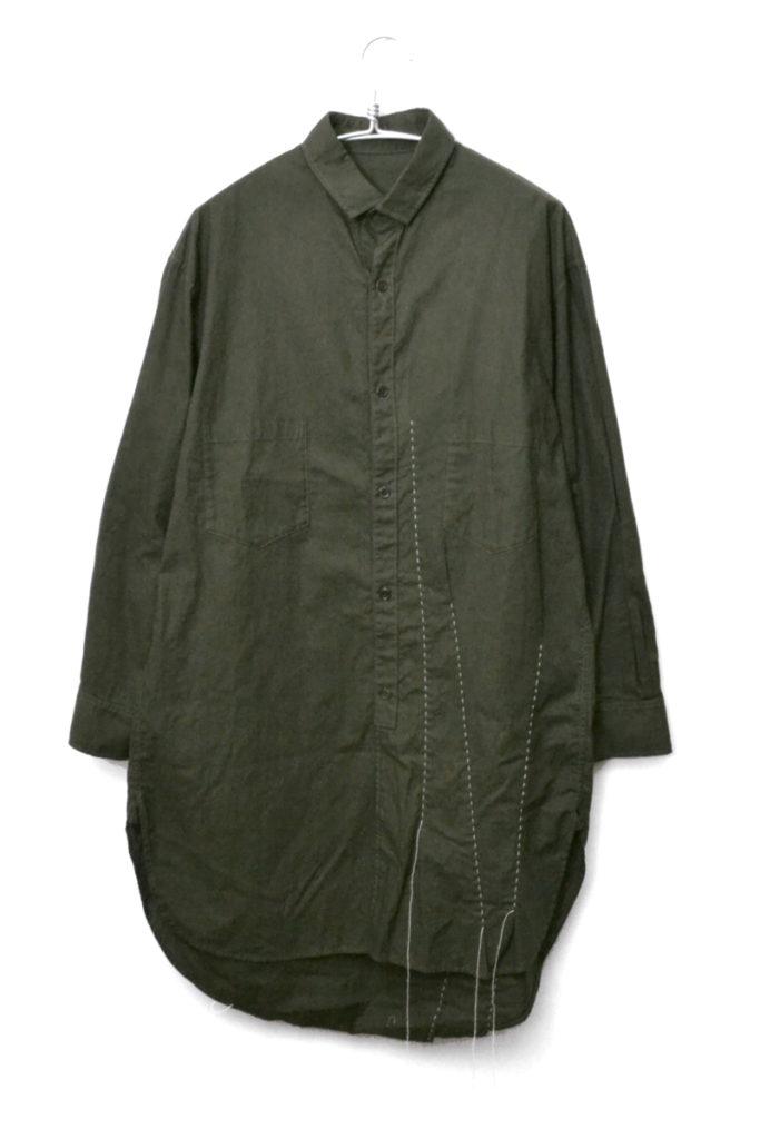 2018AW/フロントステッチ ロングシャツ サンプル品