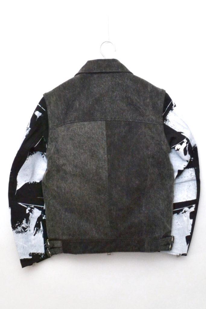 転写プリント 袖切替デニムライダースジャケット 替え袖付の買取実績画像
