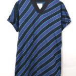 2018SS/ BIAS STRIPE V-NECK BIG-T 斜めストライプビッグTシャツ