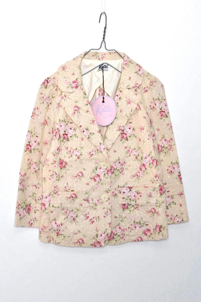 フラワープリント ジャケット