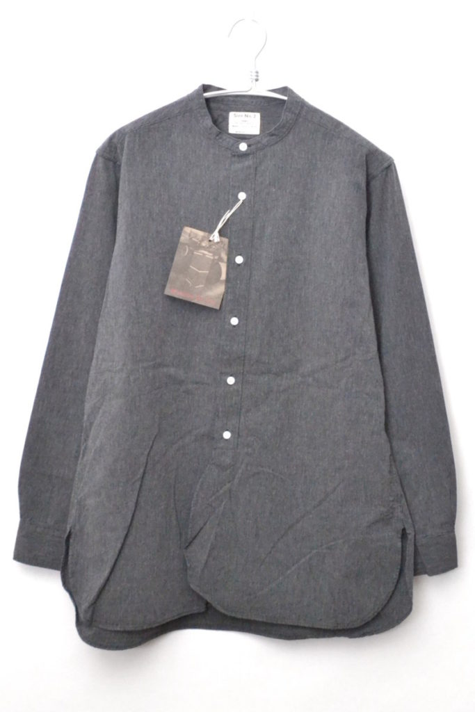 Band Collar Shirt バンドカラー 長袖シャツ