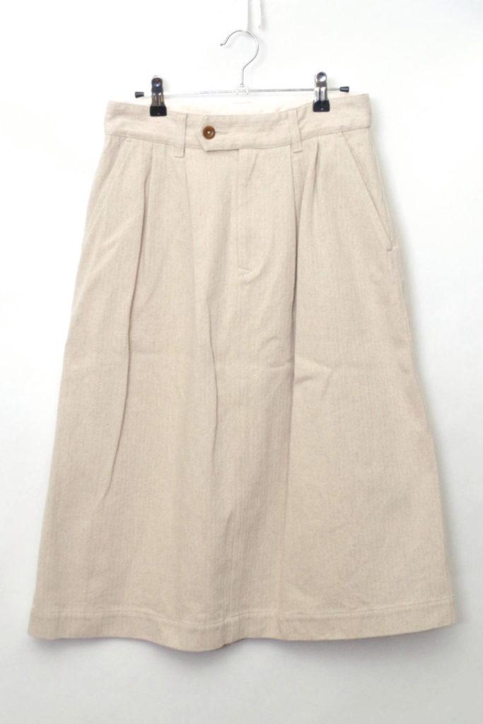 2018SS/ COTTON LINEN HERRINGBONE コットンリネンヘリンボーン スカート
