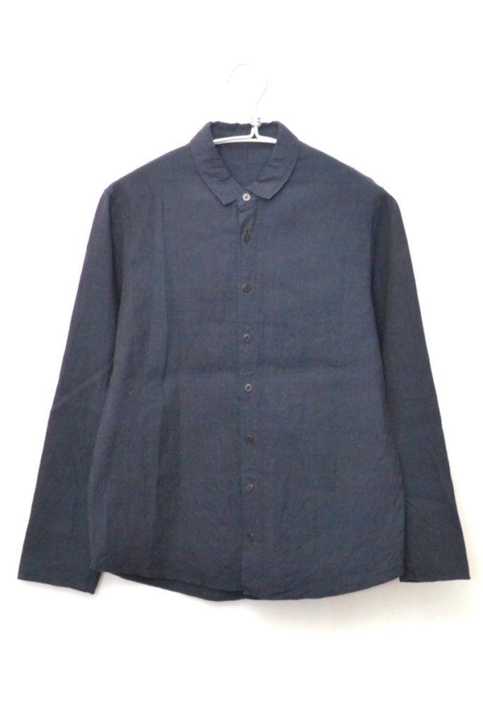 コットン ミニカラー 長袖シャツ