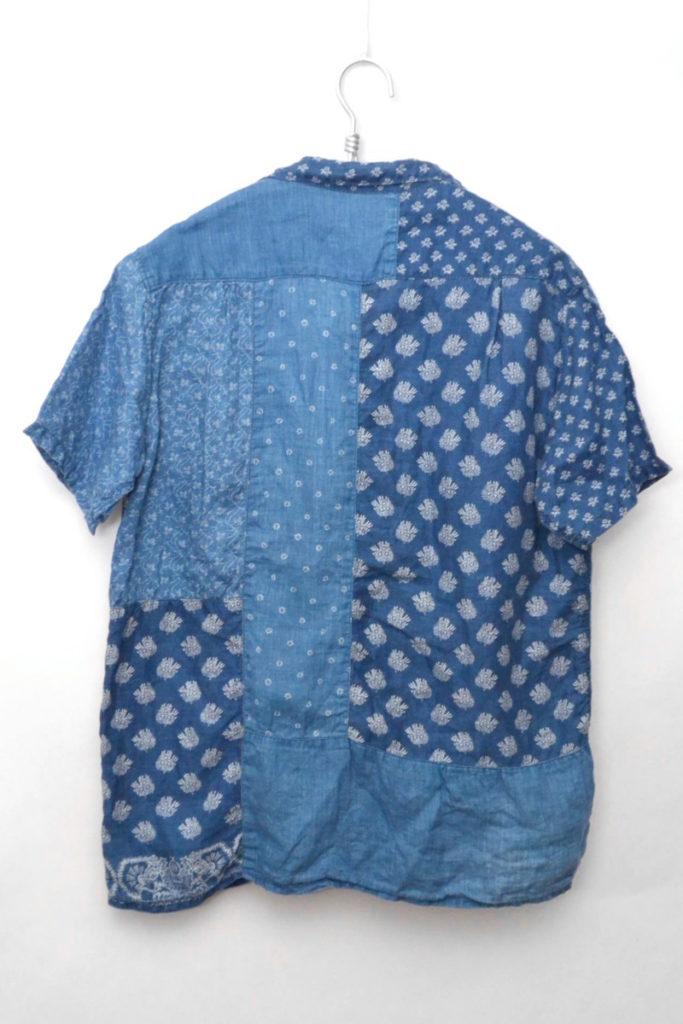フレンチクロスリネン パッチワーク オープンカラーシャツの買取実績画像