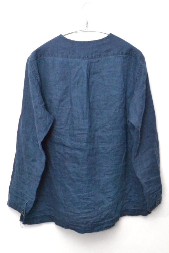 2016SS/Linen pullover Shirts インディゴリネン ヘンリーネック プルオーバーシャツの買取実績画像