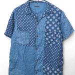 フレンチクロスリネン パッチワーク オープンカラーシャツ