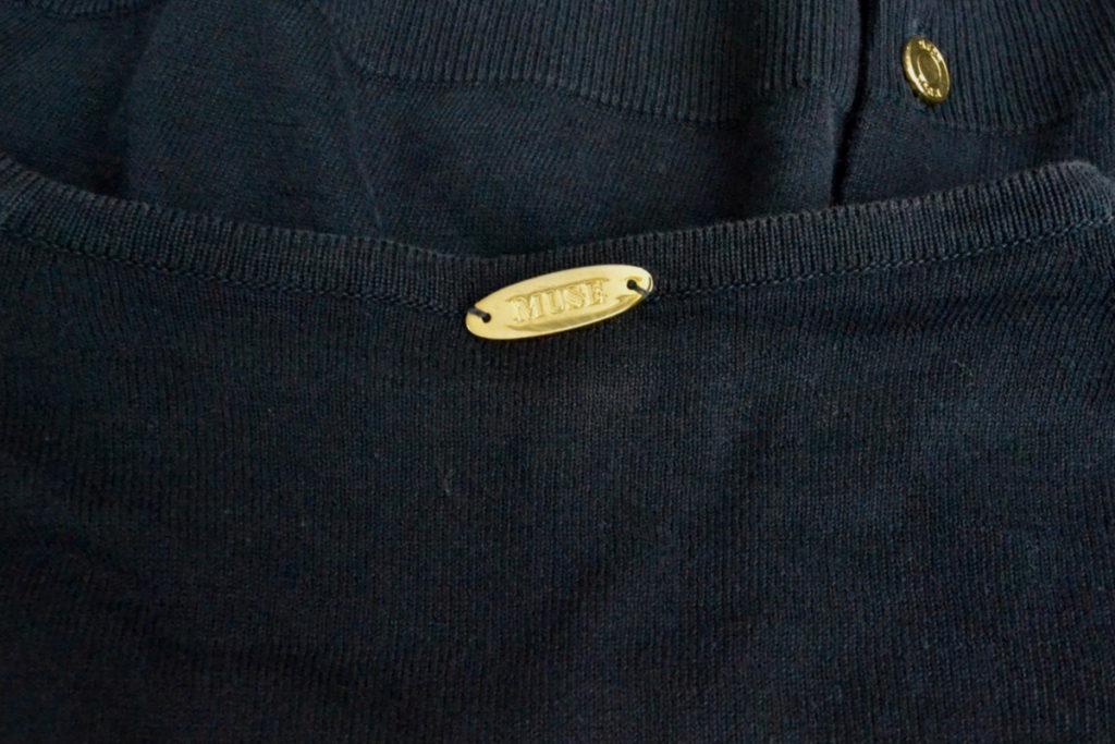 FF30 GIZA 金ボタン クルーネックカーディガンの買取実績画像