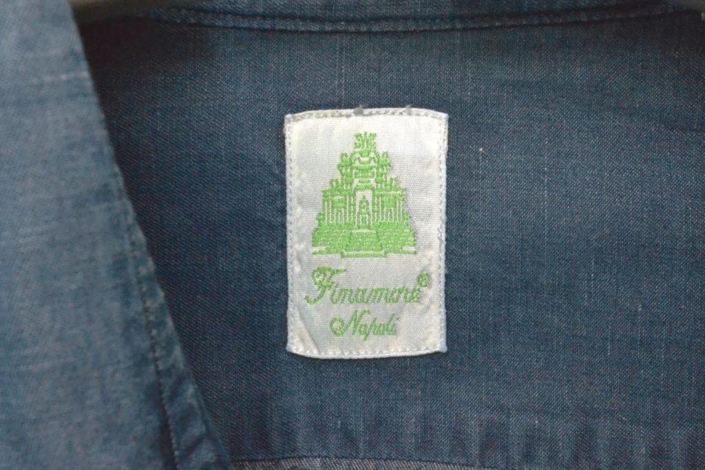 コットンリネンダンガリー カッタウェイカラーシャツの買取実績画像