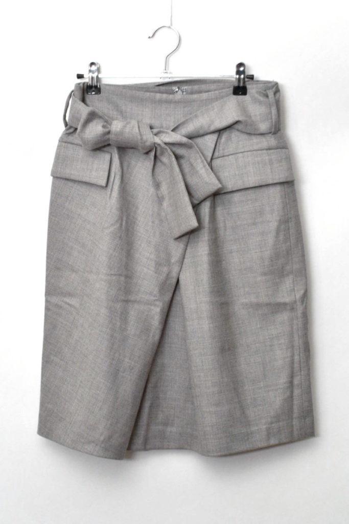 COLLECTION/ウエストベルト ストレッチウールスカート