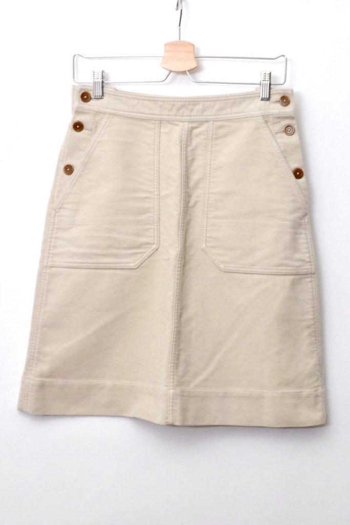 2014AW/ コットン モールスキン スカート