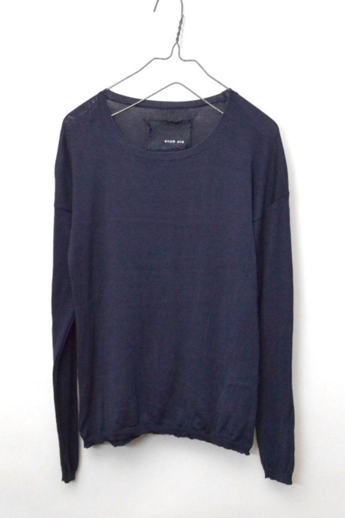 シルク混紡 ドロップショルダーニット セーター