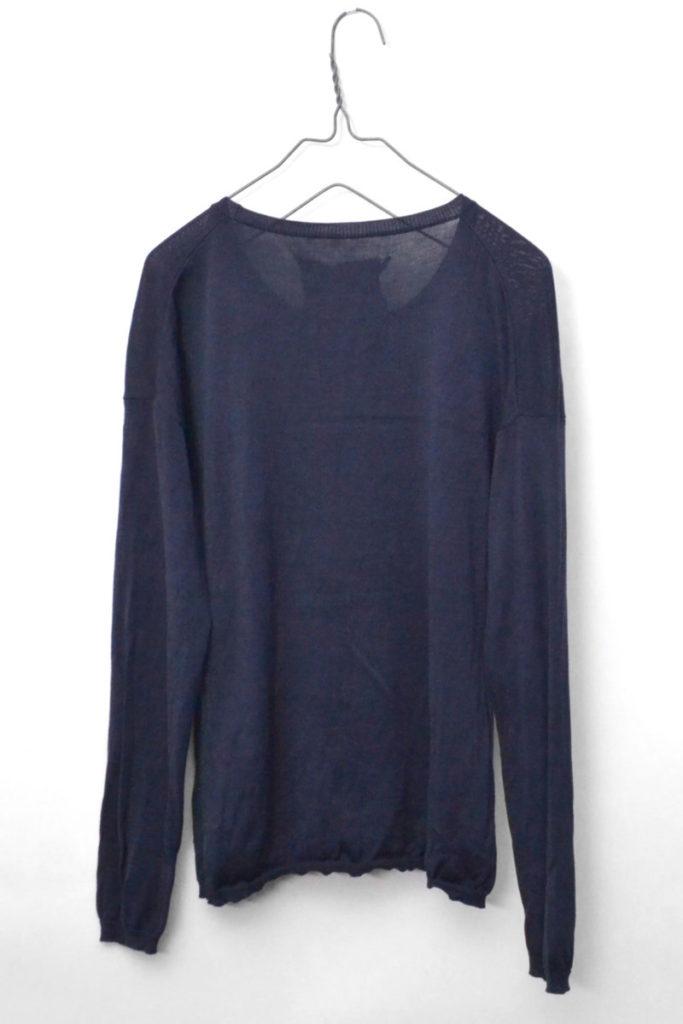 シルク混紡 ドロップショルダーニット セーターの買取実績画像